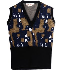 ShopBazaar Marni Printed Sweater Vest MAIN