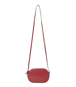 ShopBazaar Valentino Red Leather Logo-Go Bag MAIN