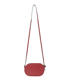ShopBazaar Valentino Red Leather Logo-Go Bag FRONT