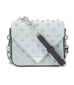 denim prisma stud crossbody bag