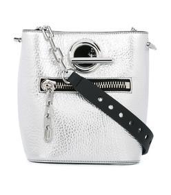 silver 'riot' bucket shoulder bag