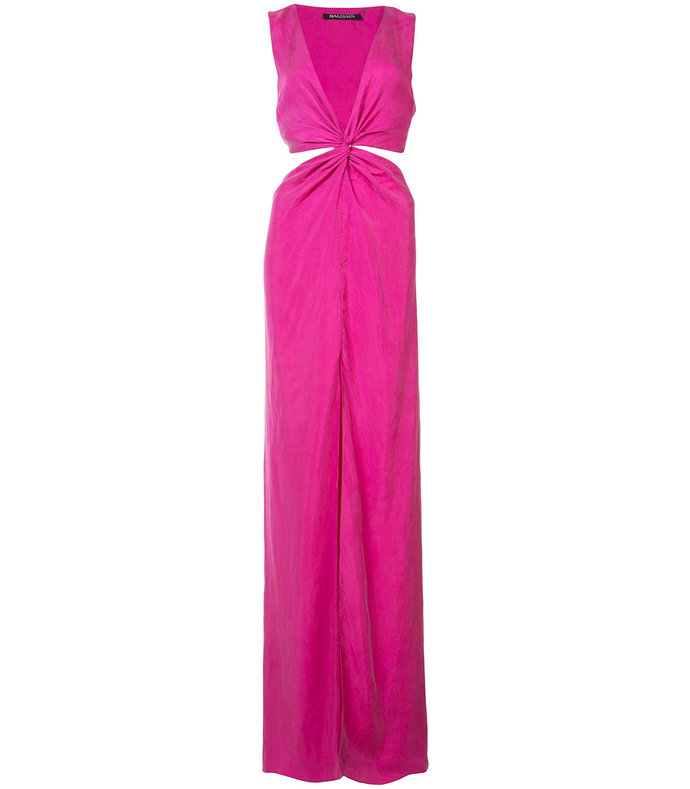 pink cut-out gown