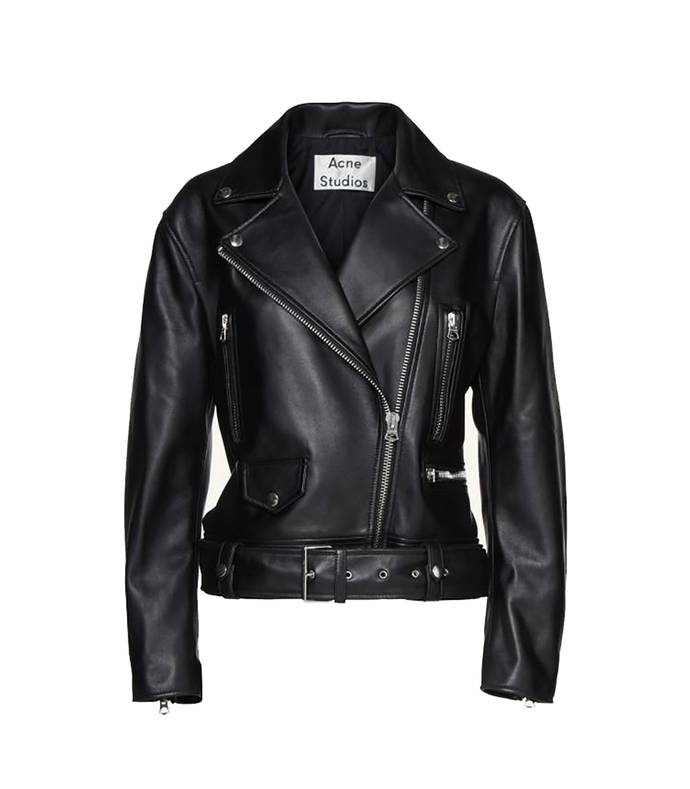 black 'merlyn' leather jacket