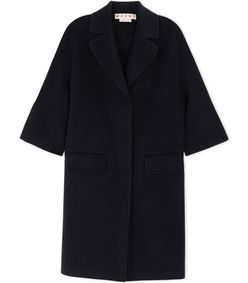 ShopBazaar Marni Black Wool & Cashmere Coat MAIN