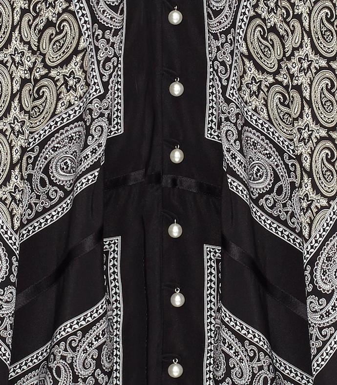 black 'winnie' printed scarf dress