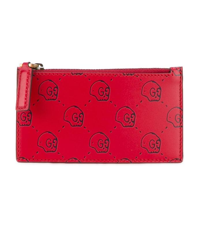 red 'gucci ghost' card case