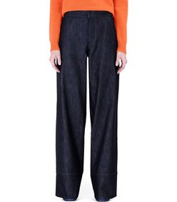 ShopBazaar Marni High-Waisted Wide-Leg Jeans FRONT