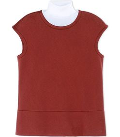 ShopBazaar Marni Red Neoprene Turtleneck Top MAIN