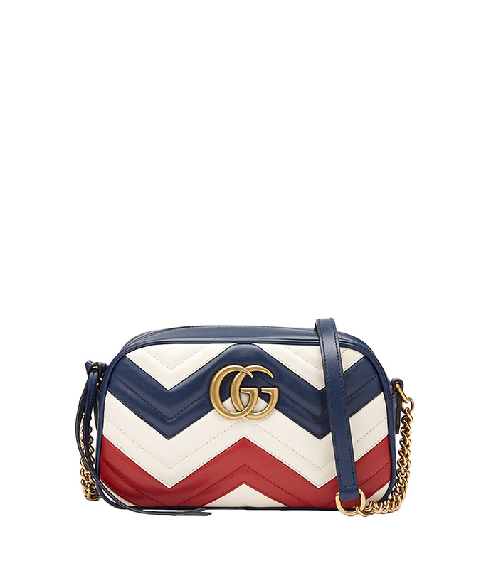 red white & blue 'gg marmont' bag
