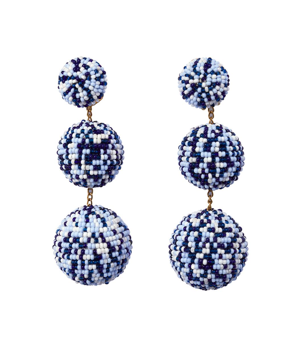 bazaar blue drop earrings