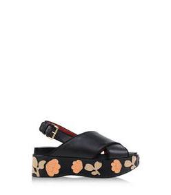 ShopBazaar Marni Flower Platform Sandal MAIN