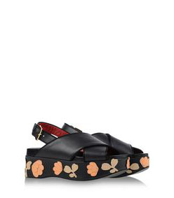 ShopBazaar Marni Flower Platform Sandal FRONT
