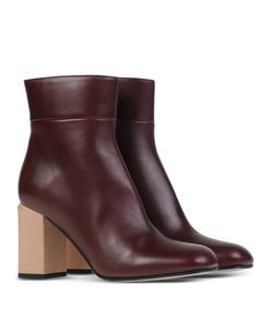 ShopBazaar Marni Leather Ankle Boot FRONT