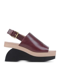 ShopBazaar Marni Leather Wedge Sandal MAIN