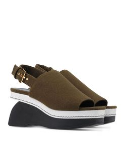 ShopBazaar Marni Color-Block Wedge Sandal FRONT