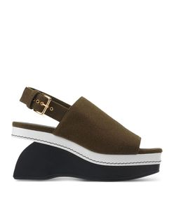 ShopBazaar Marni Color-Block Wedge Sandal MAIN