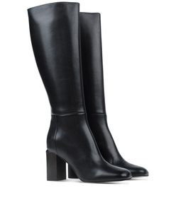 ShopBazaar Marni Tall Black Leather Boot FRONT