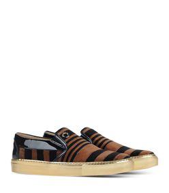 ShopBazaar Sonia Rykiel Velvet Striped Sneaker FRONT