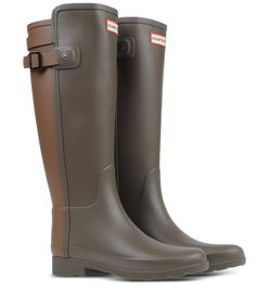 ShopBazaar Hunter Two-Tone Back Strap Rain Boot FRONT
