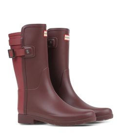 ShopBazaar Hunter Maroon Short Rain Boot FRONT