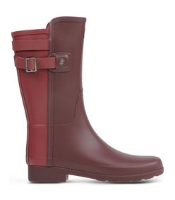 ShopBazaar Hunter Maroon Short Rain Boot MAIN