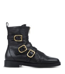 ShopBazaar Sonia Rykiel Black Leather Buckle Boot MAIN