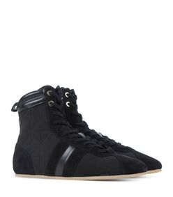 ShopBazaar Sonia Rykiel Black Suede High-Top Sneaker FRONT