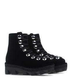 ShopBazaar Alexander Wang Velvet Ankle Hiker Boot  FRONT