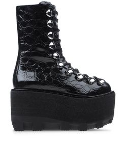ShopBazaar Alexander Wang Croc-Embossed Hiker Boot MAIN