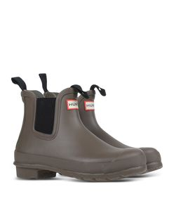 ShopBazaar Hunter Brown Pull Tab Chelsea Boot FRONT