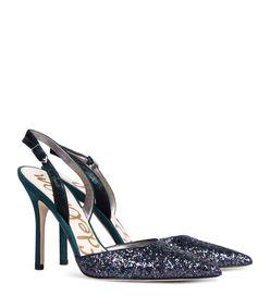 ShopBazaar Sam Edelman Dark Blue Glitter Heel  FRONT