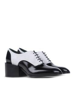 ShopBazaar Jil Sander Black & White Oxford Shoe FRONT