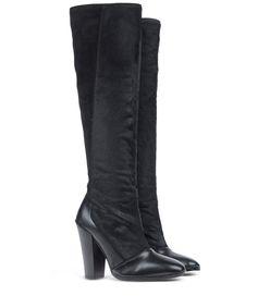 ShopBazaar 10 Crosby Derek Lam Tall Calf Hair & Leather Boot FRONT
