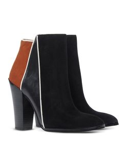 ShopBazaar 10 Crosby Derek Lam Black & Orange 'Celeste' Bootie FRONT