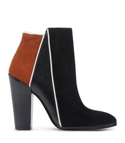 ShopBazaar 10 Crosby Derek Lam Black & Orange 'Celeste' Bootie MAIN