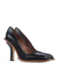 ShopBazaar Marni Black Contrast Leather Pump FRONT