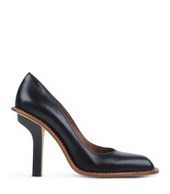 ShopBazaar Marni Black Contrast Leather Pump MAIN