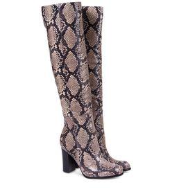 ShopBazaar Sam Edelman Over-The-Knee Snake Boot FRONT
