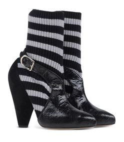 ShopBazaar Sonia Rykiel Black Sweater Sock Pump FRONT