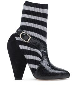 ShopBazaar Sonia Rykiel Black Sweater Sock Pump MAIN
