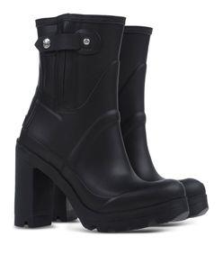 ShopBazaar Hunter Black Heeled Rain Boot FRONT