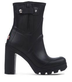 ShopBazaar Hunter Black Heeled Rain Boot MAIN
