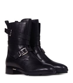 ShopBazaar Alexander Wang Leather Moto Boots FRONT