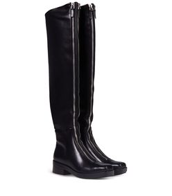 ShopBazaar Alexander Wang Zip High-Knee Boots FRONT