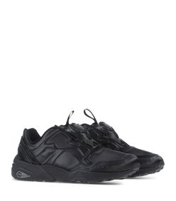 ShopBazaar Puma Black Low-Top Leather Sneaker FRONT