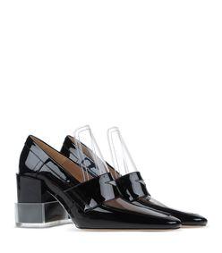 ShopBazaar Maison Margiela 22 Black Sculpted Loafer  FRONT