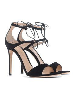 ShopBazaar Gianvito Rossi Black Tie Sandal FRONT