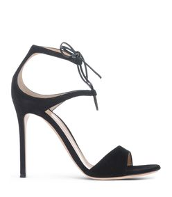 ShopBazaar Gianvito Rossi Black Tie Sandal MAIN