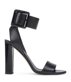 ShopBazaar Calvin Klein Collection Black Thick Buckle Sandal MAIN