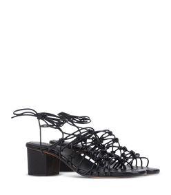 ShopBazaar Chloé Black Strappy Sandal  FRONT